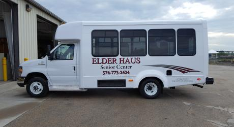 Elder Haus: designed printed, laminated and installed by Coach Guard