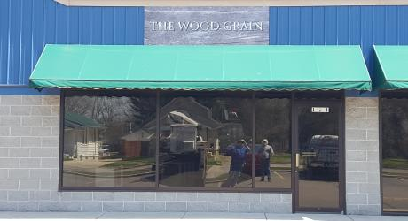 The Wood Grain: printed on aluminum board and installed
