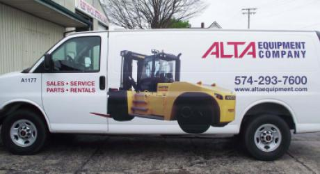 Alta: provided graphics installed by Coach Guard