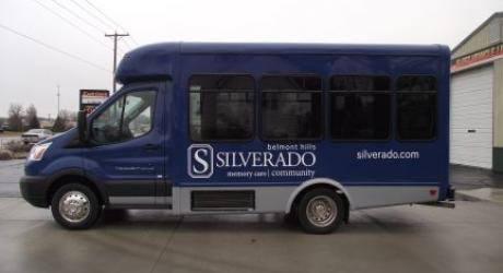 Silverado Belmont: Cut Lettering and Decals, printed and installed by Coach Guard