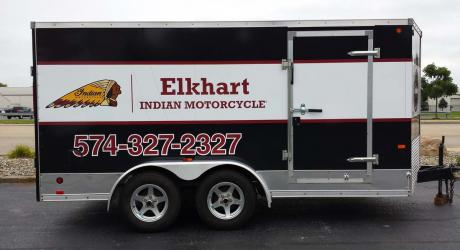 Elkhart Indian Motorcycle: designed, printed, laminated and installed by Coach Guard