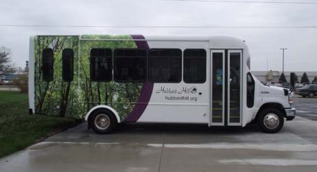 Hubbard Hill: designed, printed, laminated and installed by Coach Guard.