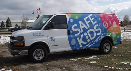Safe Kids Van Full Wrap: provided graphics installed by Coach Guard