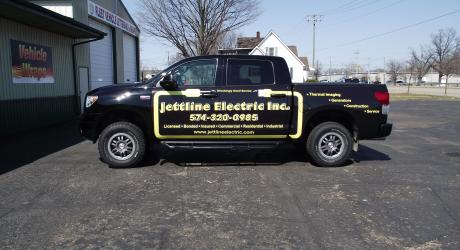 Jettline Electric Partial Truck Wrap: printed, laminated and installed by Coach Guard