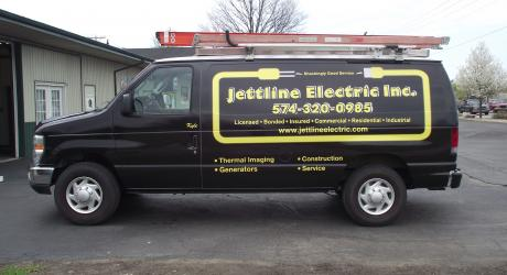 Jettline Electric Full Van Wrap: printed, laminated and installed by Coach Guard