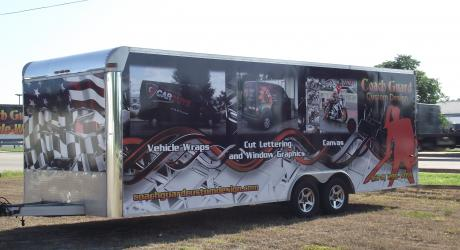 Coach Guard Trailer: designed, printed, laminated and installed by Coach Guard.