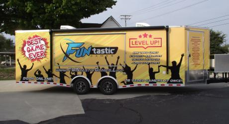 Funtastic Games Trailer Wrap: designed, printed, laminated and installed by Coach Guard