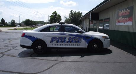 Nappanee Police: reflective material provided and installed by Coach Guard.