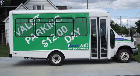 Park'N Jet: printed, laminated and installed by Coach Guard.