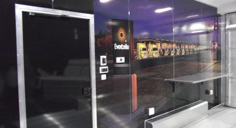 Everbrite (interior): printed, laminated and installed on a show trailer