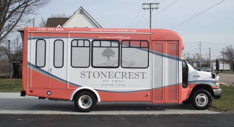Stonecrest: printed, laminated and installed by Coach Guard.
