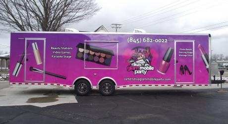 Carter's Diva Glam Mobile Party: designed, printed, laminated and installed by Coach Guard