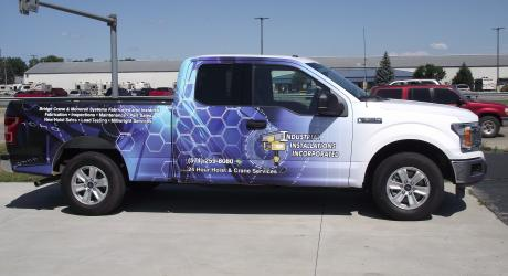 Industrial Installations Inc.: designed, printed, laminated and installed by Coach Guard