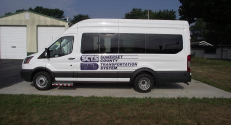 Somerset County Transportation System: re-designed, printed, laminated and installed