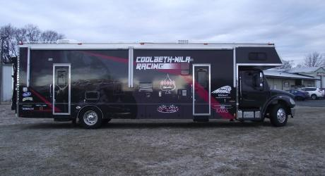 Coolbeth-Nila Racing: printed, laminated and installed by Coach Guard