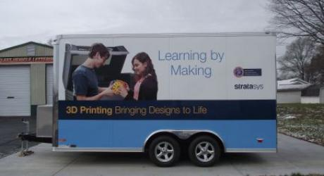3D Printing Mobile Lab: printed, laminated and installed by Coach Guard.