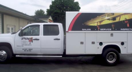 Paul's Welding Truck: designed, printed, laminated and installed by Coach Guard.