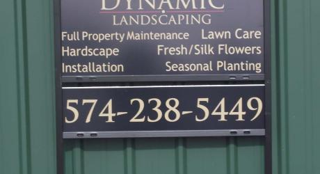 Dynamic Landscaping: printed vinyl installed on aluminum panel