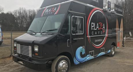Plaza Cafe: designed, printed and laminated by Coach Guard