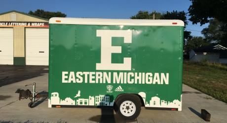 Eastern Michigan University: printed, laminated and installed