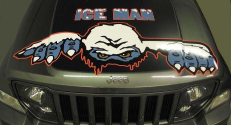 Ice Man: designed, printed, laminated and cut graphics installed