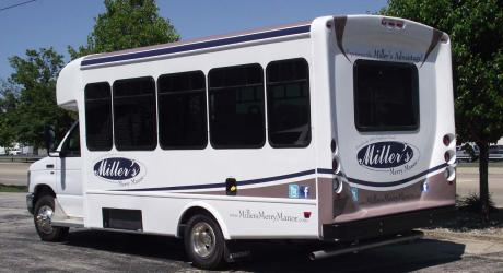 Miller's Merry Manor Partial Wrap: printed, laminated and installed by Coach Guard