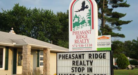 Pheasant Ridge Realty: large real estate sign printed and installed on aluminum panel
