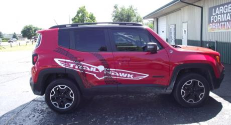 Trailhawk Logo and Tire Treads: Designed, Printed and Installed by Coach Guard