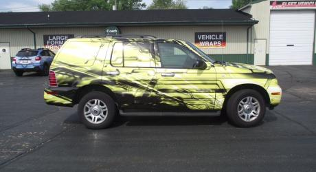 Image Motors Full Wrap:  Designed, Printed, and Installed by Coach Guard